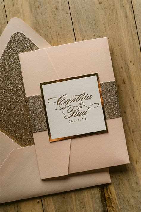 Wedding Invitation Suite Packages by Suite Styled Glitter Pocket Folder Package