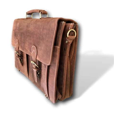 Kauri Bag handmade brown leather 18 quot messenger bag briefcase by