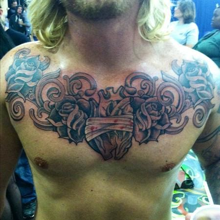 heart chest piece tattoo designs matt stebly tattoos tattoos part chest tattoos