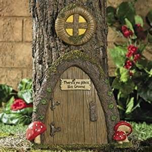 amazon com garden gnome home door in a tree art pieces