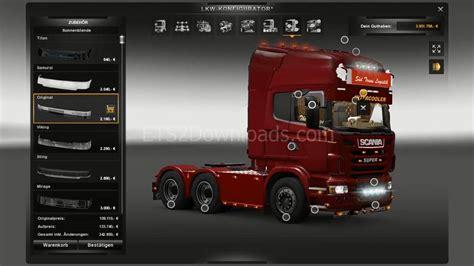 scania  interior euro truck simulator  mods