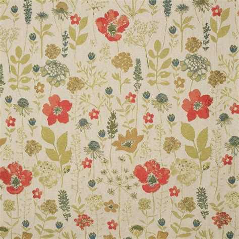 poppy curtain material gordon smith malvern ltd chess designs meadow poppy