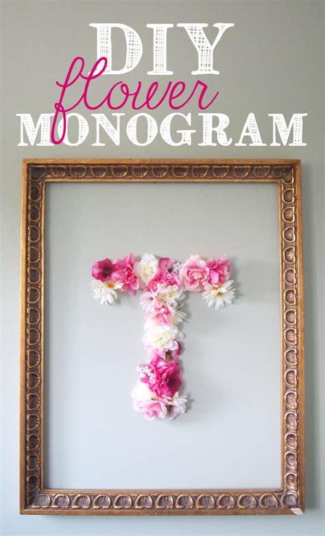monogram diy projects diy faux flower monogram