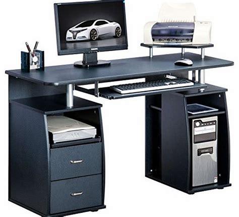 Large Black Computer Desk Home Office Computer Desk