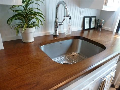 Hickory Wood Countertops by Custom Hickory Wood Countertops Craftsman Kitchen