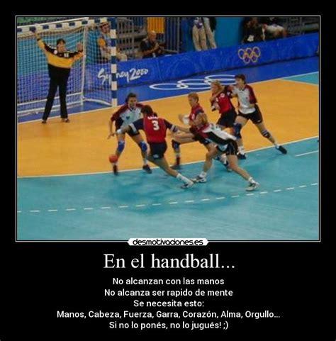 imagenes motivadoras de handball en el handball desmotivaciones