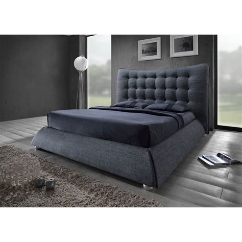 grey fabric bed sareer furniture horace chesterfield grey fabric bed