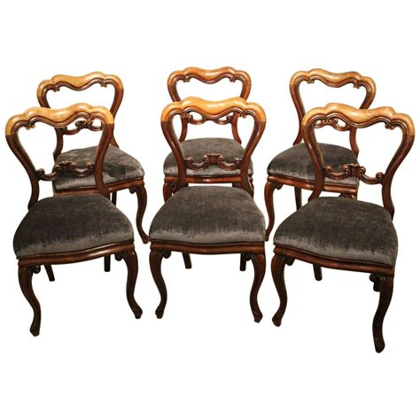 victorian dining room chairs set of six mahogany victorian period antique dining chairs for sale at 1stdibs