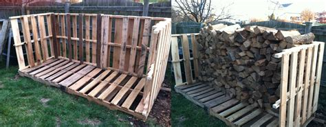 build firewood rack pallets creative ideas from the pits pallet firewood storage