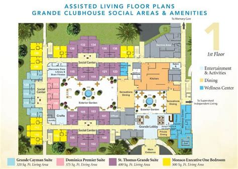 assisted living facility floor plans senior living floor plans discovery at the forum