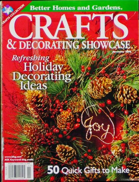 better homes and gardens crafts magazine crafts decorating showcase magazine november 2000 better