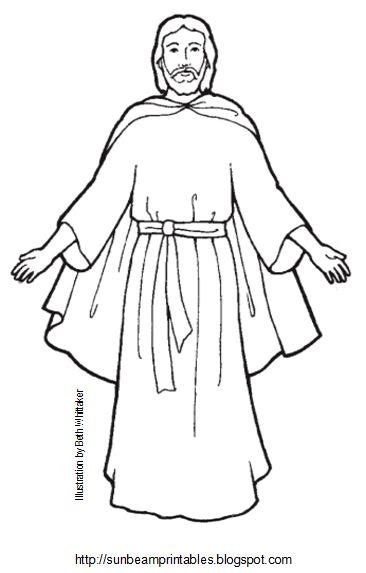 lds coloring pages of the savior black and white of the savior clipart