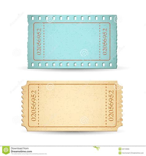raffle ticket template blank ticket stock vector image of empty allowed