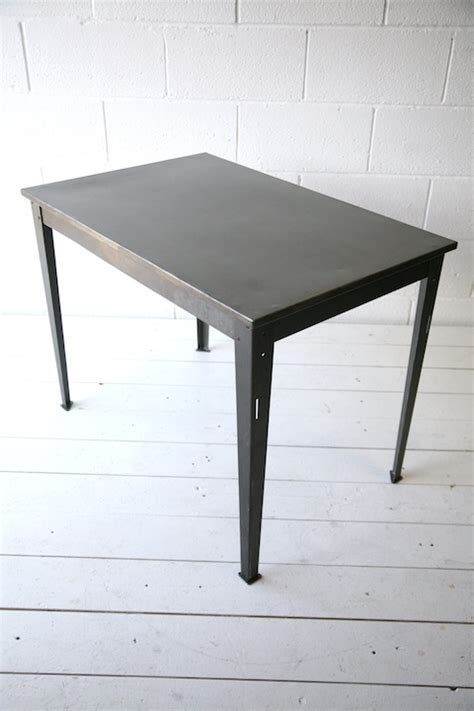 Industrial Metal Table by Industrial Steel Table Desk And Chrome