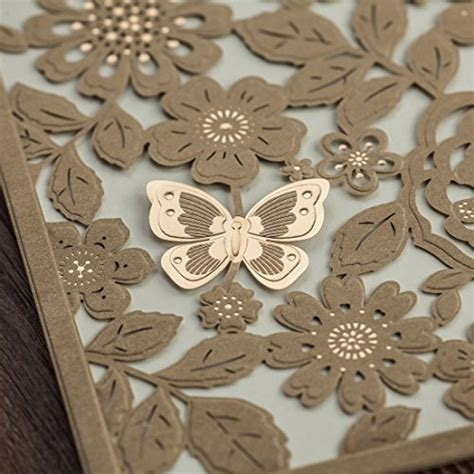 wishmade pcs  gold butterfly laser cut wedding