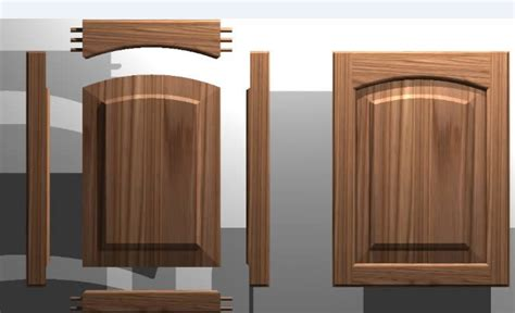 kitchen cabinet door solid wood panel 3d dwg autocad
