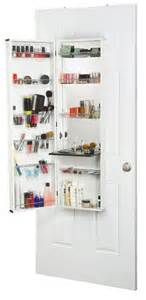 Cabinet Door Organizers Bathroom The Door Hanging Cosmetic Organizer With Mirror A Great Space Saver And Keeps It Out Of