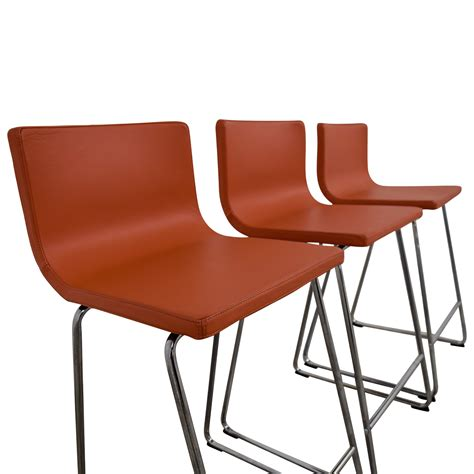orange bar stools for sale 64 off ikea ikea bernhard orange bar stools chairs