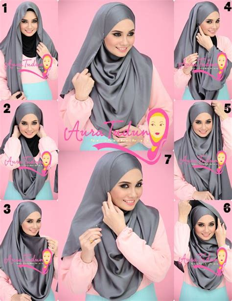 tutorial pashmina labuh fashion hijab and headscarf styles hijabiworld