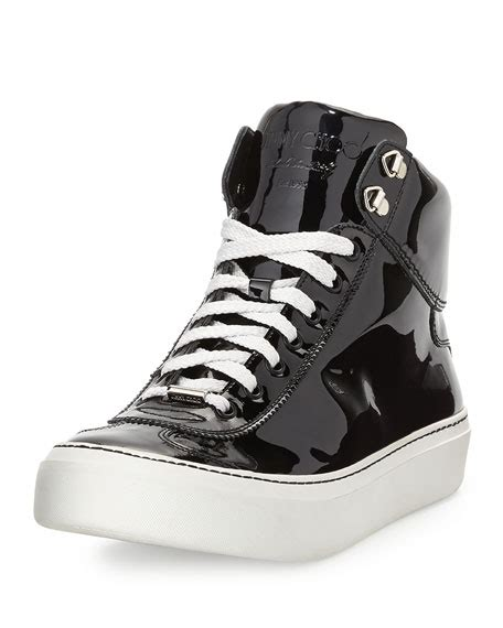 Nike Zoom Hi Top Androgynous Chic by Jimmy Choo Argyle S Patent Leather High Top Sneaker