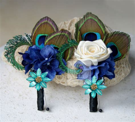 Handmade Corsage And Boutonniere - 5pcs groom boutonniere best buttonholes