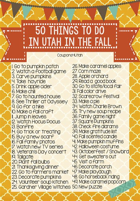 50 things to do in utah in the fall you need this