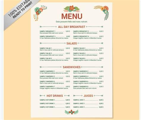 Muster Speisekarten Vorlagen 77 Kostenlose Speisekarten Vorlagen Zum Selbst Gestalten