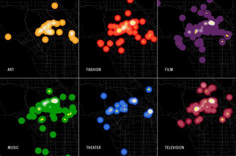 design lab columbia maps density of cultural events in new york and los