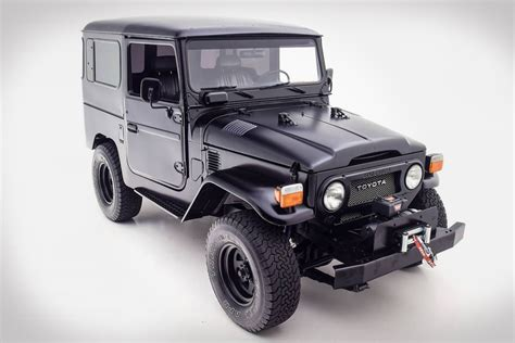 toyota land cruiser black matte black 1979 toyota fj40 land cruiser