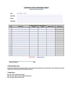 overtime spreadsheet template overtime sheet templates 7 free word pdf format