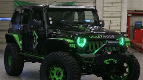 Beast Mode Jeep by Marshawn Lynch S Neon Green Beast Mode Jeep Is An