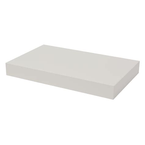 40cm Floating Shelf by Floating Shelf White Lacquered 40cm Pekodom
