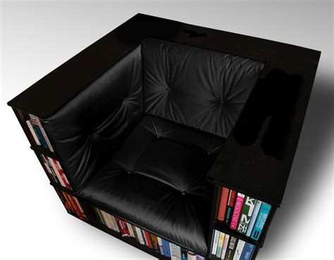 Bookshelf Chair by Luxury Club Library Bookcase Chair By