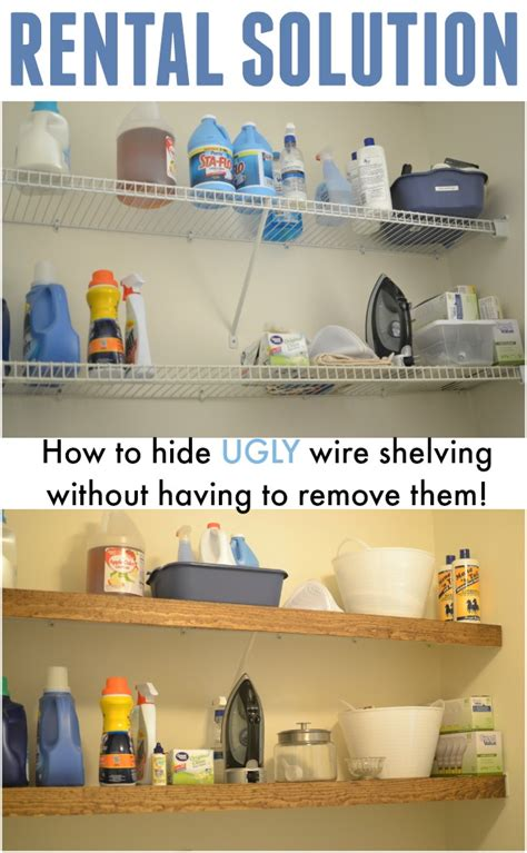 Closet Rental by Rental Solution How To Hide Wire Shelving