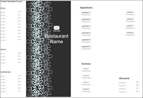 bi fold menu template bi fold menu template sle templates sle templates