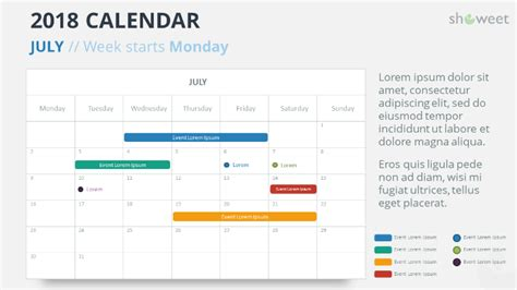 2018 Calendar Powerpoint Templates Powerpoint Schedule Template