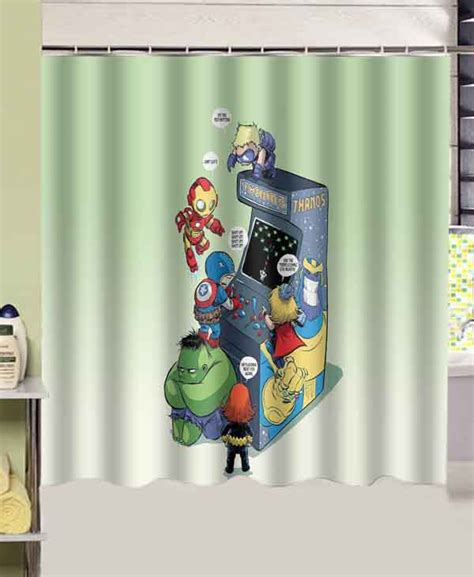 marvel shower curtain marvel funny comics baby custom shower curtain 180x180cm