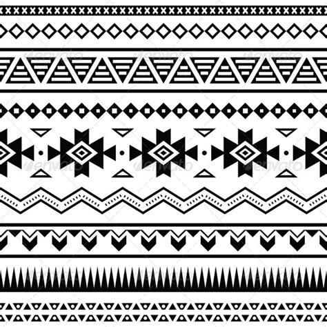 aztec pattern font aztec mexican seamless pattern graphicriver