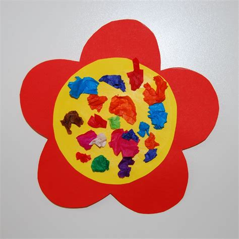 Crafts Using Tissue Paper - a lovely and easy to make craft idea for toddlers using