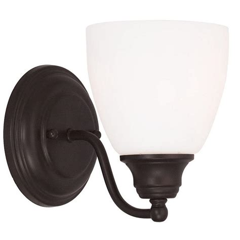 livex lighting somerville 1 light bronze wall sconce 13671