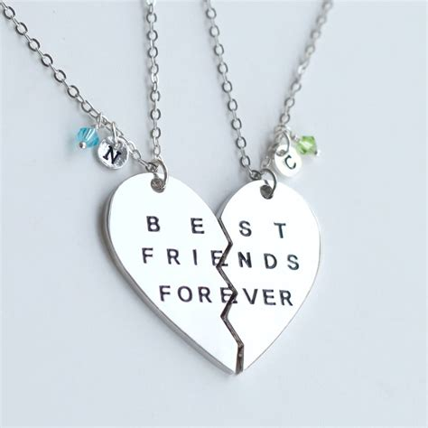 silver best friends forever necklace best friend by