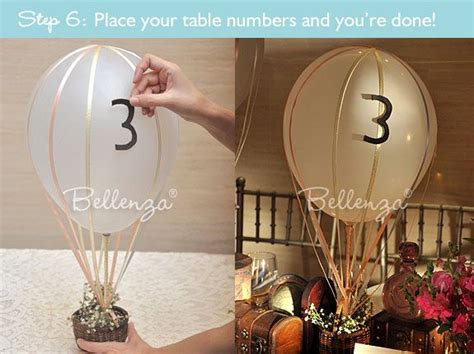 How To Make A Hot Air Balloon Centerpiece For A Wedding Air Balloon Table Centerpieces