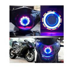 beleuchtung motorrad motorcycle motorbike 12v led projector kit high low beam