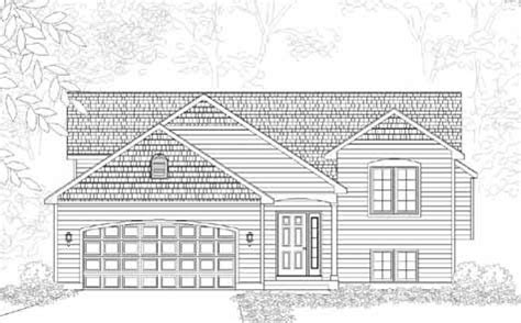 Exquisite Traditional Style Bi Level House Plan Lynbrook A Lynbrook House Plan