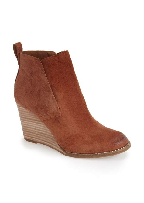 lucky brand lucky brand yoniana wedge bootie