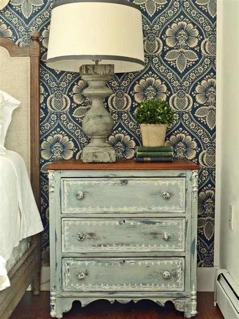 how to paint and decorate an old furniture in formica give plain nightstands rustic charm with milk paint hgtv