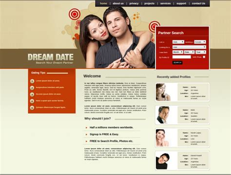 free dating templates 27 dating website themes templates free premium