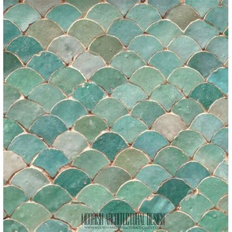 fish scale tile moroccan fish scale tile pattern