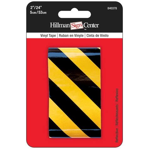 the hillman 2 in x 24 in black yellow reflective