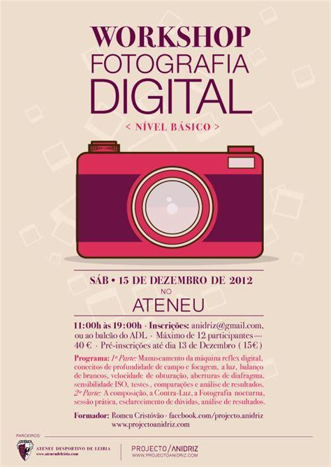 werkstatt poster digital photography workshop on behance